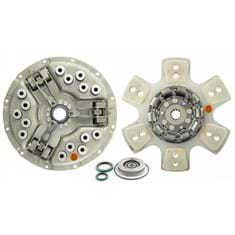 "14"" Single Stage Clutch Kit, w/ 6 Large Pad Disc, Bearings & Seals, Heavy Spring Pressure - Reman"